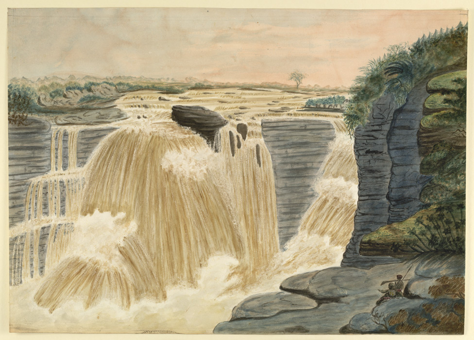 Waterfall on the Tons River, near Rewah, Bundelkhand